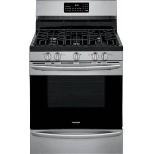 "Frigidaire GCRG3060AF 30"" Gallery Series Stainless Steel Gas Range with 5 cu. ft. Oven Capacity  5 Burners  Air Fry and True Convection in Stainless"