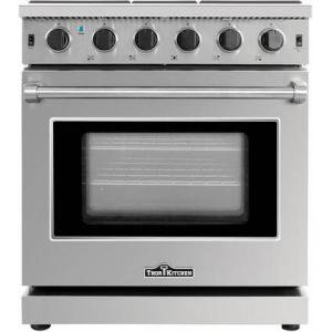 "Thor LRG3001U 30"" Gas Range with 5 Sealed Burners  4.55 cu. ft. Oven Capacity  Continuous Cast Iron Grates  Black Porcelain Drip Pin"