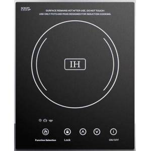 """Summit SINC1110 12"""" Smoothtop Electric Induction Cooktop With Single 1800 Watt Cooking Zone  10 Power Levels  Automatic Pan Detection  Touch Sensor Controls"""
