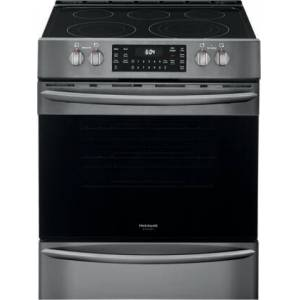 """Frigidaire FGEH3047VD 30"""" Gallery Series Electric Range with 5 Elements  5.4 cu. ft. Capacity Convection Oven  Steam and Self Cleaning  Air Fry Function in"""