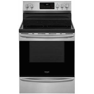 "Frigidaire GCRE3060AF 30"" Gallery Series Stainless Steel Electric Range with 5.7 cu. ft. Capacity  5 Elements  Air Fry and True Convection in Stainless"
