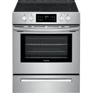 "Frigidaire FFEH3051VS 30"" Slide-In Electric Range with SpaceWise Expandable Element  Quick Boil  Steam Clean  and Even Baking Technology  in Stainless"
