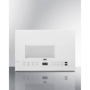 """Summit MHOTR241W 24"""" Over the Range Microwave with 1.4 cu. ft. Capacity  Turntable  LED Lighting  Auto Cook  Timed Cook  Multi-Stage Cooking  10 Power"""