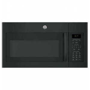 """GE JVM6172DKBB 30"""" Over-the-Range Microwave Oven with 1.7 cu. ft. Capacity  Two-speed 300-CFM Venting fan system  10 power levels  Weight and time"""