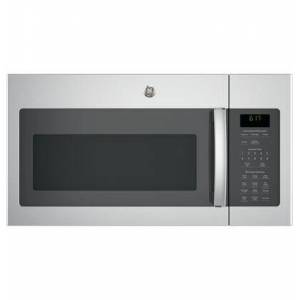 """GE JVM6172SKSS 30"""" Over-the-Range Microwave Oven with 1.7 cu. ft. Capacity  Two-speed 300-CFM Venting fan system  10 power levels  Weight and time"""