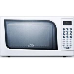Summit SM901WH .7 cu. ft. Capacity Microwave With Multiple Power Levels  End Of Cycle Buzzer  and One-Touch Auto Cook Menu in