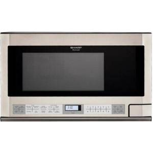 """Sharp R1214TY 24"""" Over the Counter Microwave with 1.5 cu. ft. Capacity  1100 Watt  Turntable  11 Sensor Cook Options  and 11 Cooking Power Levels  in"""