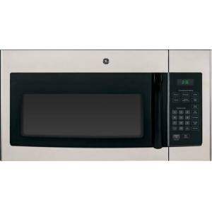 """GE JNM3161MFSA 30"""" 1.6 cu. ft. Capacity Over-the-Range  1000 Watt Microwave Oven  Convenience Cooking Controls  2 Speed 300 CFM Venting  Auto & Time"""