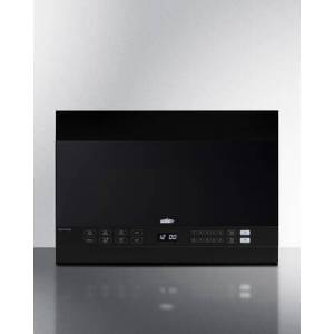 """Summit MHOTR242B 24"""" Over the Range Microwave with 1.4 cu. ft. Capacity  Turntable  LED Lighting  Auto Cook  Timed Cook  Multi-Stage Cooking  10 Power"""