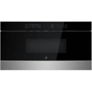 """Jenn-Air JMDFS30HM 30"""" NOIR Under Counter Microwave Drawer with 1.2 cu. ft. Capacity  950 Watts Element  Sensor Reheat and Keep Warm in Stainless"""
