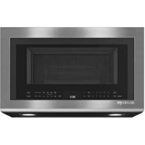 """Jenn-Air JMV9196CS 30"""" Over the Range Microwave Oven with Convection  Perimetric Venting  Integrated Pocket Handle  4 Stage Memory Cooking   and 1500 Watts"""