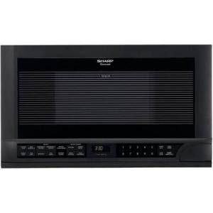 Sharp R-1210 1.5 cu. ft. Over the Counter Microwave Oven with 1 100 Cooking Watts and Auto-Touch Control Panel: