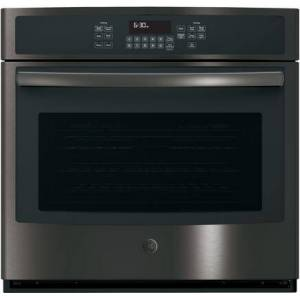 """GE JT5000BLTS 30"""" Built-In Single Wall Oven with 5 cu. ft. Capacity  3 Self-Clean Heavy Duty Oven Racks  Self Clean  Steam Clean  and Convection  in"""