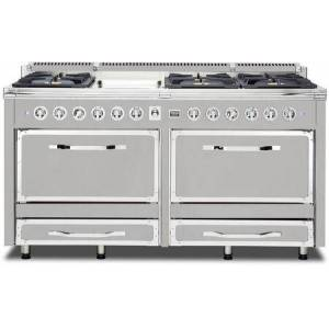 """Viking TVDR6616GFW 66"""" Tuscany Series Dual Fuel Freestanding Range with 6 Sealed Burners  Griddle  Dual Electric Ovens with 7.6 cu. ft. Capacity  Double"""