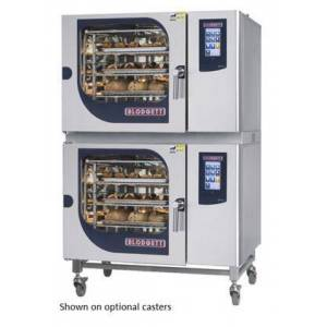 Blodgett BLCT6262G Double Stack Gas Boilerless Combination-Oven/Steamer with Touchscreen Control  Multiple modes  Self cleaning system. Capacity: 10 sheet