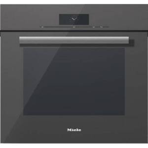 """Miele H68802BPGRGR 30"""" Convection Single Wall Oven with PureLine Handle  M Touch Controls  4.6 cu. ft. Capacity  Self Clean  19 Operating Modes  MasterChef"""