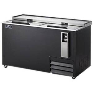 """Arctic AUB65R 65"""" Horizontal Bottle Cooler with Electronic Thermostat  Casters  CFC Free Refrigerant and Sliding Lid with Lock in"""