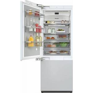 "Miele KF2811Vi 30"" MasterCool Series Bottom Freezer Refrigerator with Push2Open  MasterFresh  BrillantLight LED  WiFiConn@ct  MasterSensor Touch Display"