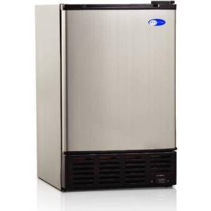 """Whynter UIM-155 15"""" Built-In Ice Maker with 12 lbs. Daily Ice Production  No Drain Required  Ice Scoop  and Crescent Ice Cubes  in Stainless"""