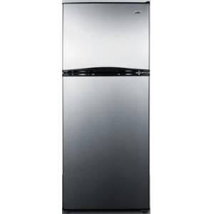 """Summit FF1073SSIM 24"""" Top Freezer Refrigerator with 9.9 cu. ft. Capacity and Interior Lighting  in Stainless"""