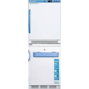 """AccuCold ARS6PV-VT65MLSTACKMED2 24"""" All-Refrigerator/All-Freezer Combination with 6 cu. ft. Capacity Refrigerator  3.2 cu. ft. Capacity Freezer  Temperature"""
