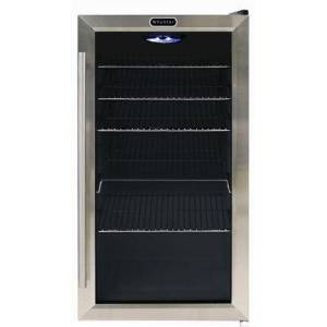 """Whynter BR-130SB 17"""" Freestanding Beverage Center with 120 Can Capacity  LED Lighting  and 5 Wire Shelves  in Stainless"""