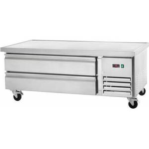 """ARCB60 62"""" Refrigerated Chef Base with Insulated Top  CFC Free Refrigerant  Casters and Electronic Thermostat in Stainless"""