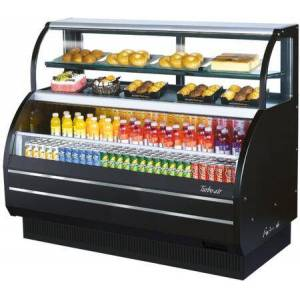 """Turbo Air TOM-W-60SB-N 63"""" Horizontal Open Display Merchandiser with 17.7 cu. ft. Capacity  Top Display Case  Self-Cleaning Condenser  Hydrocarbon Refrigerants"""