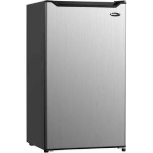 """Danby DCR044B1SLM 20"""" Diplomat Stainless Steel Compact Refrigerator with 4.4 cu. ft. Capacity  Full Width Chiller  Crisper and Adjustable Glass"""