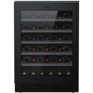 "Vintec VWUS041BAB 24"" Single Zone Compact Refrigerator with 41 Bottle Capacity  UV-Proof Dark Storage Area  Vintec Perfect Cradle Shelving  Humidity"