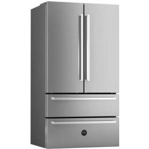 """Bertazzoni REF36X/17 36"""" Freestanding French Door Refrigerator with 21 Cu. Ft. Total Capacity  2 Freezer Drawers  Super Freeze  Automatic Ice Maker  Dual"""