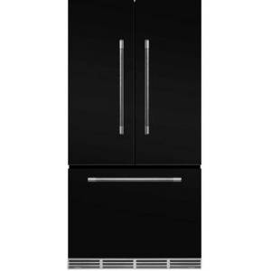 """AGA MMCFDR23BLK 36"""" Mercury  Counter Depth French Door Refrigerator With Storage Drawer  22.2 cu. ft. total capacity  12 Temperature Settings  Adjustable"""