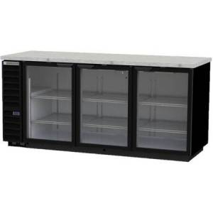 "Beverage-Air BB78HC-1-G-B 79"" Back Bar Refrigerator with 33.59 cu. ft. Capacity  LED Lighting  Self-Closing Swing Doors  and Epoxy Coated Shelves in"