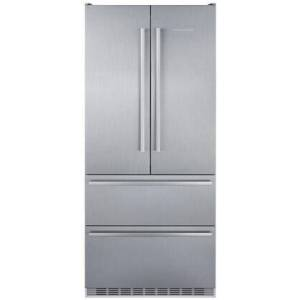 """Liebherr CBS2082 36"""" Freestanding French Door Refrigerator with 18.9 cu. ft. Total Capacity  Duo Cooling Technology  Automatic Ice Maker  Bio Fresh  SuperCool"""