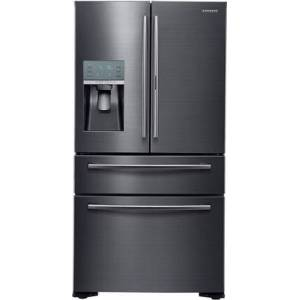 "Samsung RF22KREDBSG 36"" Energy Star Counter-Depth French Door Refrigerator with 22.4 cu. ft. Capacity  Food Showcase Door  Water and Ice Dispenser: Black"
