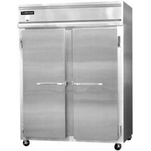 """Continental 2RE 57"""" Commercial Reach-In Refrigerator with 2 Sections  50 cu. ft. Capacity  Stainless Steel Front  Aluminum End Panels and"""