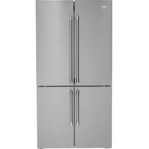 """Beko BFFD3626SS 36"""" 4 Door French Door Refrigerator with 19.77 cu. ft. Capacity  EverFresh+  NeoFrost Dual Cooling Technology and IonGuard Technology in"""