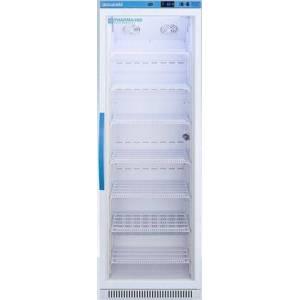 """AccuCold ARG15PV 24"""" Upright Vaccine Refrigerator with 15 cu. ft. Capacity  Automatic Defrost  Interior LED Light and Reversible Glass Door in"""