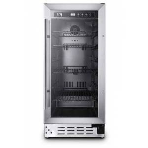 """BC-92US 15"""" Beverage Cooler with 92-Can Capacity  Reversible Tempered Glass Door  Digital Controls with LED Temperature Display  Removable Wire"""