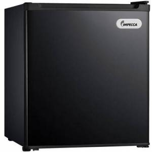 """Impecca RC-1176K 18"""" Energy Star Rated Compact Refrigerator with 1.7 cu. ft. Total Capacity  1 Wire Shelf  Half Width Chiller Compartment and Reversible Door"""