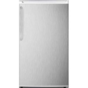 "Summit FF412ESCSSADA 19"" ADA Compliant  Energy Star Compact Refrigerator with 3.6 cu. ft. Capacity  Adjustable Shelves  Crisper  Automatic Defrost and"