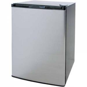 """Cal Flame BBQ09849P 20"""" Compact Refrigerator with 4.6 cu. ft. Capacity  Removable Shelves  Internal Light  and 115 Volt Power Cord  in Stainless"""