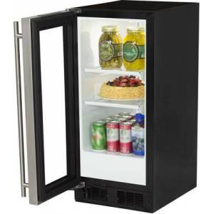 "Marvel ML15RAS1LB 15"" Refrigerator with 48 12-oz Cans Capacity  Dynamic Cooling Technology  Integrated Controls  Close Door Assistant System  Sabbath Mode"