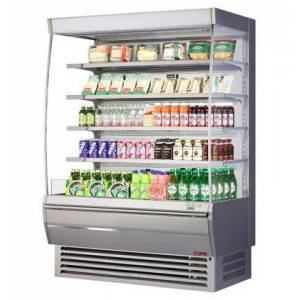 """Turbo Air TOM-60DXS-N 60"""" Extra Deep Vertical Open Display Merchandiser with 18.9 cu. ft. Capacity  Self-Cleaning Condenser  Hydrocarbon Refrigerants and LED"""