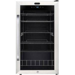 """Whynter BR-1211DS 19"""" Freestanding Beverage Center with 121 Can Capacity  Digital Control  and Lock  in Stainless"""