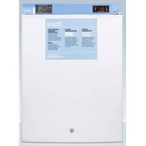 """AccuCold FF28LWHMED2 19"""" Medical Refrigerator with 2.4 cu. ft. Capacity  Digital Thermostat  Temperature Alarm  Factory Installed Lock  Hospital Grade Cord"""