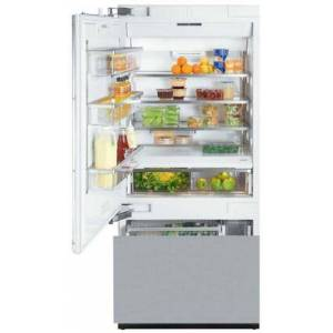 """Miele KF1913SF 36"""" Energy Star Fully Integrated Bottom Freezer Refrigerator with 18.28 cu. ft. Capacity Adjustable Spill Proof Drop and Lock Shelves"""