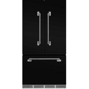 """AGA MELFDR23BLK 36"""" Elise  Counter Depth French Door Refrigerator With Storage Drawer  12 Temperature Settings  22.2 cu. ft. Capacity  Adjustable Glass"""