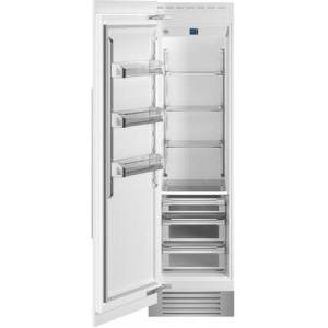 """Bertazzoni REF24RCPRL 24"""" Built In Column Refrigerator with 12.99 cu. ft. Capacity  White Aluminum Interior  Intuitive Digital Touch Controls  Left and Swing"""
