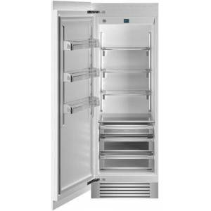 """Bertazzoni REF30RCPRL 30"""" Built In Column Refrigerator with 17.44 cu. ft. Capacity  White Aluminum Interior  Intuitive Digital Touch Controls  Left and Swing"""